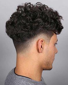 Blowout Haircut: 25+ Modern Blowout Fade and Taper Hairstyles #blowouthaircut #afro #menshair #menshaircutideas #fadehaircut #menshairstyles #menshaircut #menshaircuts Haircuts For Wavy Hair, Wavy Hair Men, Long Face Hairstyles, Haircuts For Men, Trendy Hairstyles, Men's Hair, Hairstyles Haircuts, Wedding Hairstyles, High Skin Fade Haircut