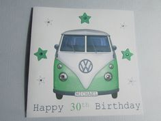 Hey, I found this really awesome Etsy listing at https://www.etsy.com/listing/190747843/personalised-camper-van-birthday-card