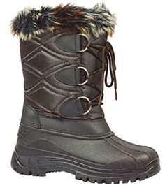 Golden Road Women Winter Snow Boots with Fur Black  Brown Wholesale A510 Brown *** You can find more details by visiting the image link.