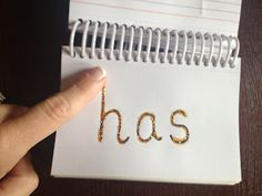 Write sight words in glitter glue and have students trace over the top of them with their fingers-GREAT for tactile learners!