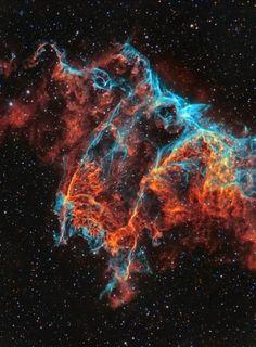 IC 1340, Veil Nebula closeup - http://astroanarchy.zenfolio.com/
