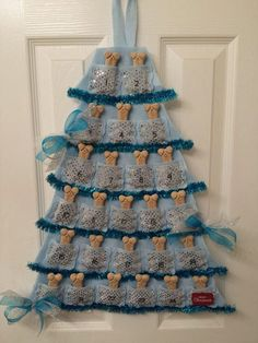 Chief would love this!  Christmas Advent Calendar for Dogs Blue & by CanineKingdomOK, $24.95