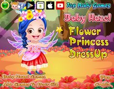An amazing collection of dresses, jewelry, crowns and colorful wings to give flower princess makeover to Baby Hazel http://www.topbabygames.com/baby-hazel-flower-princess-dressup.html