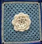 floral crochet flowers — Yandex.Images – granny square flower Etsy Crochet: 3D Flower Granny Blanket. granny