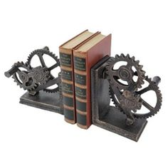 Amazon.com: Functional Mechanical Systems Sculptural Iron Bookends/Engineer Gift: Furniture & Decor