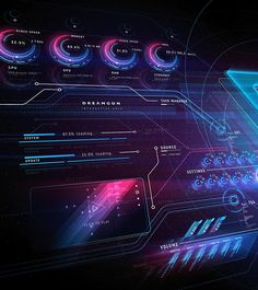 Ui Web, Interactive Design, User Interface, Motion Graphics, Futuristic, Sci Fi, Photoshop, Science Fiction
