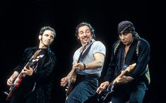 Nils Lofgren, Bruce Springsteen and Stevie Van Zandt