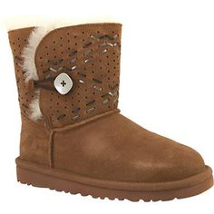 UGG Bailey Button Tehuano Comfort Winter Boots - Girls