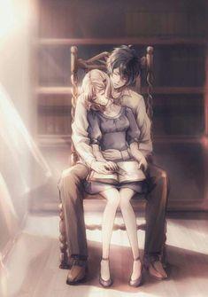 anime couple anime romantic art ayato boy and girl couple cute diabolik lovers… Manga Couples, Couple Manga, Anime Love Couple, Cute Anime Couples, I Love Anime, Anime Couples Sleeping, Girl Couple, Diabolik Lovers, Anime Couples