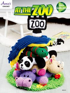 This adorable set of stackable zoo animals includes the pole, a hippo, a rhino, a panda, a snake and a parrot. Each design is made using worsted-weight yarn and stuffed with fiberfill. Also needed is a 12-inch plastic foam cone with a 5-inch base. Ho...