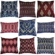 ikat pillows -- set of 9