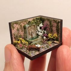 Miniature Secret Garden Enchanted Hanging Glitter Fairy on a Glass Bubble Ball