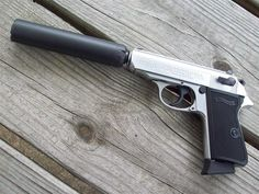 Walther PPK with suppressor Find our speedloader now! http://www.amazon.com/shops/raeind
