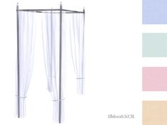 ShinoKCR's Curtains and Canopy's - Canopy Singlebed Bar Black Silver