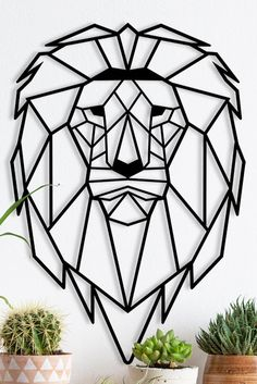 Excited to share this item from my shop: Ditcowest Metal Wall Art Lion, Animal, Geometric Metal Wall Art/ Home Décor Wall/Modern Metal Art/ Wall Signs/ Bedroom, Living Room Decor Geometric Drawing, Mandala Drawing, Abstract Drawings, Geometric Art, Geometric Animal, Lion Wall Art, Mural Wall Art, Wall Décor, Diy Wall