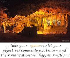 ... take your >space< to let your #objectives come into #existence ~ and their realization will happen swiftly ...!