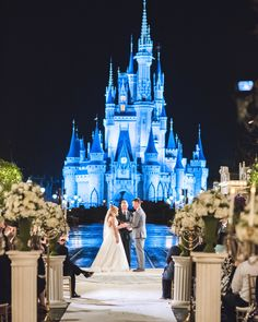 The rain could not stop Chelsea and Spencer's enchanting Magic Kingdom wedding! If you watched their Disney Wedding on Freeform and were inspired by their magical event -- you're in luck! Disney Wedding Venue, Disney World Wedding, Florida Wedding Venues, Cinderella Wedding, Disney Weddings, Disney Bride, Ariel Disney, Cinderella Disney, Disney Fairies