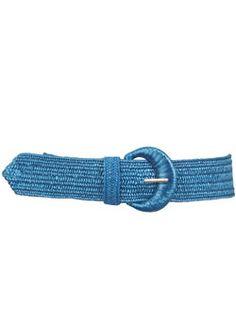 Dorothy Perkins Blue straw elastic waist belt Blue straw elastic waist belt. 100% Polypropylene. http://www.comparestoreprices.co.uk/womens-accessories/dorothy-perkins-blue-straw-elastic-waist-belt.asp