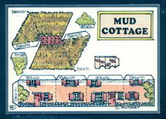 G1489-Cut-Out-Postcard-Fiddlers-Green-Mud-Cottage