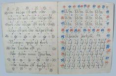 Schulheft von 1929 mit Schreibübungen in deutscher Sütterlinschrift Schulheft 1929 Berlin SlgKiJu - Sütterlinschrift – Wikipedia