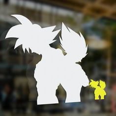 "Goku and Vegeta Back to Back ""Contemplation of Battle"" Decal"