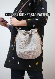 Crochet Bucket Bag Free Pattern mypoppet.com.au