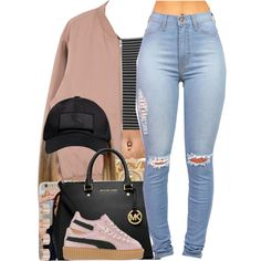 A fashion look from December 2015 featuring Topshop tops, Puma sneakers and MICHAEL Michael Kors handbags. Browse and shop related looks.