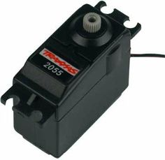 Traxxas 2055 High-Torque Servo by Traxxas. Save 34 Off!. $18.57. From the Manufacturer                This is a stock Traxxas steering servo. This servo has a J style connector and a Nylon gear drivetrain with a 25 tooth splined output shaft.                                    Product Description                This is the Replacment High Torque Servo for the Traxxas T-Maxx and E-Maxx or any other vehicle that you would like to mount this in. This part goes between the receiver...