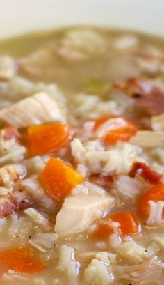 Chicken, Bacon & Rice Soup