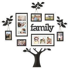 Celebrate the love of family in a profound and unique way with the WallVerbs Family Branch Tree Photo Frame Set. With decorative accent pieces combined with different-size frames, this set allows you to create an impressive photo display on any wall.