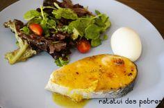 Salmão grelhado c/ molho de mel, mostarda, gengibre e lima | ratatui dos pobres