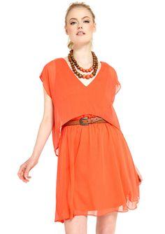 M60 Miss Sixty - tangerine dress!