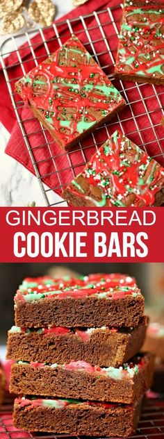 gingerbread cookie bars christmas dessertschristmas recipeschristmas