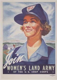 The British Women's Land Army (In the U.S., the Women's Land Army of America) was created to keep up (and at times, increase) agricultural production while men fought overseas. To learn more about the roles women played in World War II, visit http://warfarehistorynetwork.com/daily/wwii/important-women-in-world-war-2-womens-auxiliary-units/