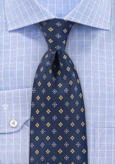 Krawatte nachtblau Blümchenmuster . . . . . der Blog für den Gentleman - www.thegentlemanclub.de/blog