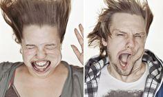 Fotografias engraçadas tiradas em um túnel de vento #hypeness www.hypeness.com.br