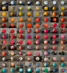 "Would you believe these are all buoys?  Someone commented, ""What a lot of oddballs""!"