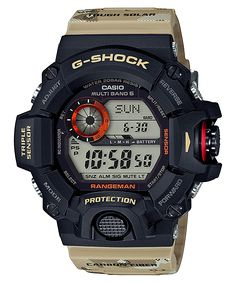 G-Shock Master of G 9400 Desert Camo Series - Beige / One Size Announced by G-Shock Japan for September, the Master in Desert Camouflage collection includes the Casio G-shock, Casio Watch, Cool Watches, Watches For Men, Wrist Watches, Men's Watches, Sport Watches, Rugged Watches, Luxury Watches