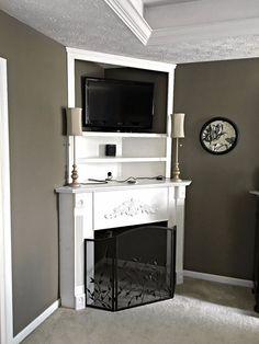 DIY Fireplace Mantel: Creating Usable Corner Space