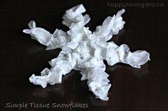 Simple Tissue Paper Snowflake Ornaments - Happy Hooligans