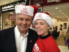 Our staff member, Maggie was very excited to mett Eamonn Holmes at the bag pack in Watford