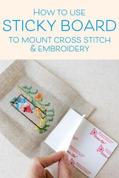 Embroidery Stitches Ideas How to frame cross stitch and embroidery using sticky board for a flat finish - There are a number of ways to prepare your finished cross stitch or embroidery for framing. One of the easiest is to use self-stick mounting. Cross Stitch Bookmarks, Counted Cross Stitch Patterns, Cross Stitch Designs, Cross Stitch Embroidery, Embroidery Patterns, Hand Embroidery, Cross Stitch Frames, Cross Stitch Art, Modern Cross Stitch Patterns