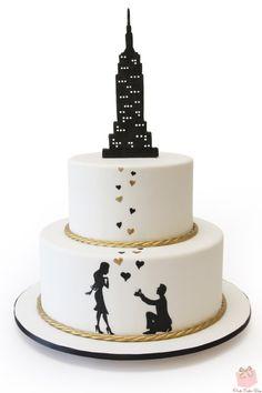 Empire State Building Bridal Shower Cake   http://www.pinkcakebox.com/empire-state-building-bridal-shower-cake/