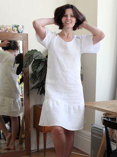 Raglan Peplum Linen Dress Tutoriald