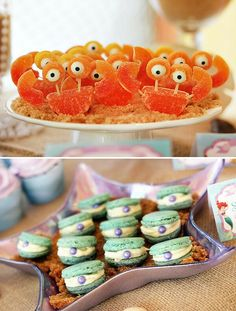 Dessert table ideas for The Little Mermaid Party - from Styling The Moment Little Mermaid Birthday, Little Mermaid Parties, The Little Mermaid, Kreative Desserts, Under The Sea Party, Ariel Under The Sea, Mermaid Under The Sea, 4th Birthday Parties, Birthday Ideas