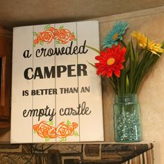 DIY Sign Glamp Laugh Love: A crowded camper...