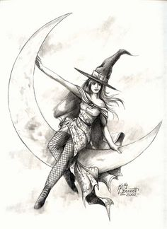 Witch on the moon