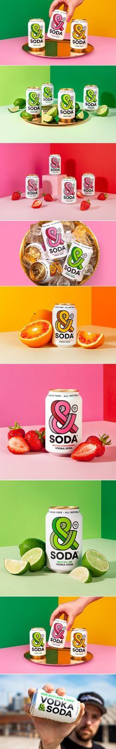 We're Swooning Over This Bold Take on the Hard Seltzer Can From &Soda - Beverage Packaging - Getränke Pretty Packaging, Packaging Design, Branding Design, Gluten Free Drinks, Beverage Packaging, A Day In Life, Creative Advertising, Bottles And Jars, Vegan Friendly