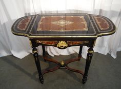 table napoleon III marquéterie - Tables - Game tables - small tables - Furniture - Nord Antique