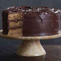 Toasty browned butter and salted dark chocolate icing transform a simple banana-nut cake into an unforgettable dessert. A few pinches of flaky sea salt on top are a clue to the cake's secret ingredient.